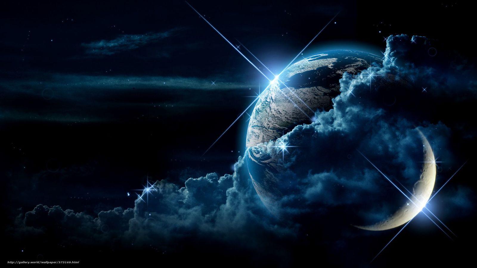 land, sky, star, clouds, night