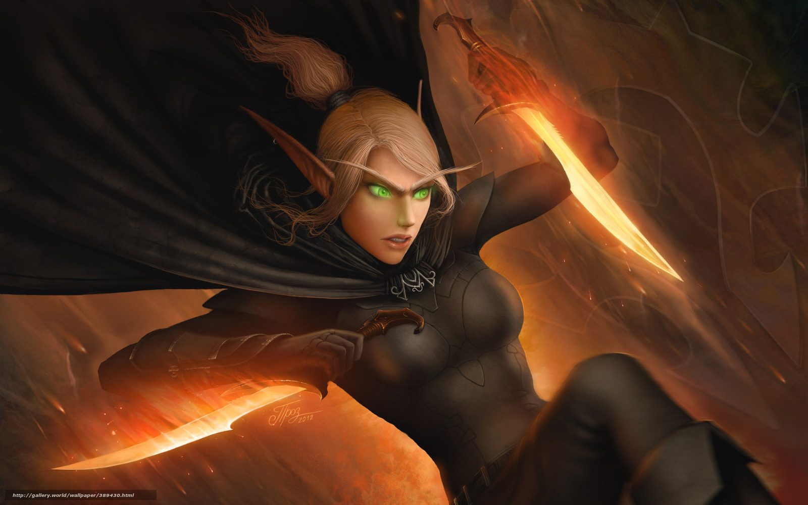 World of warcraft blood elf rogue porn anime picture