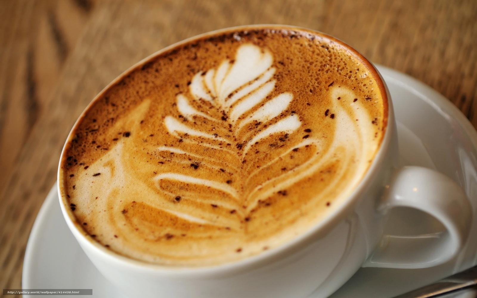 кофе, капучино, пена, узор, латте-арт