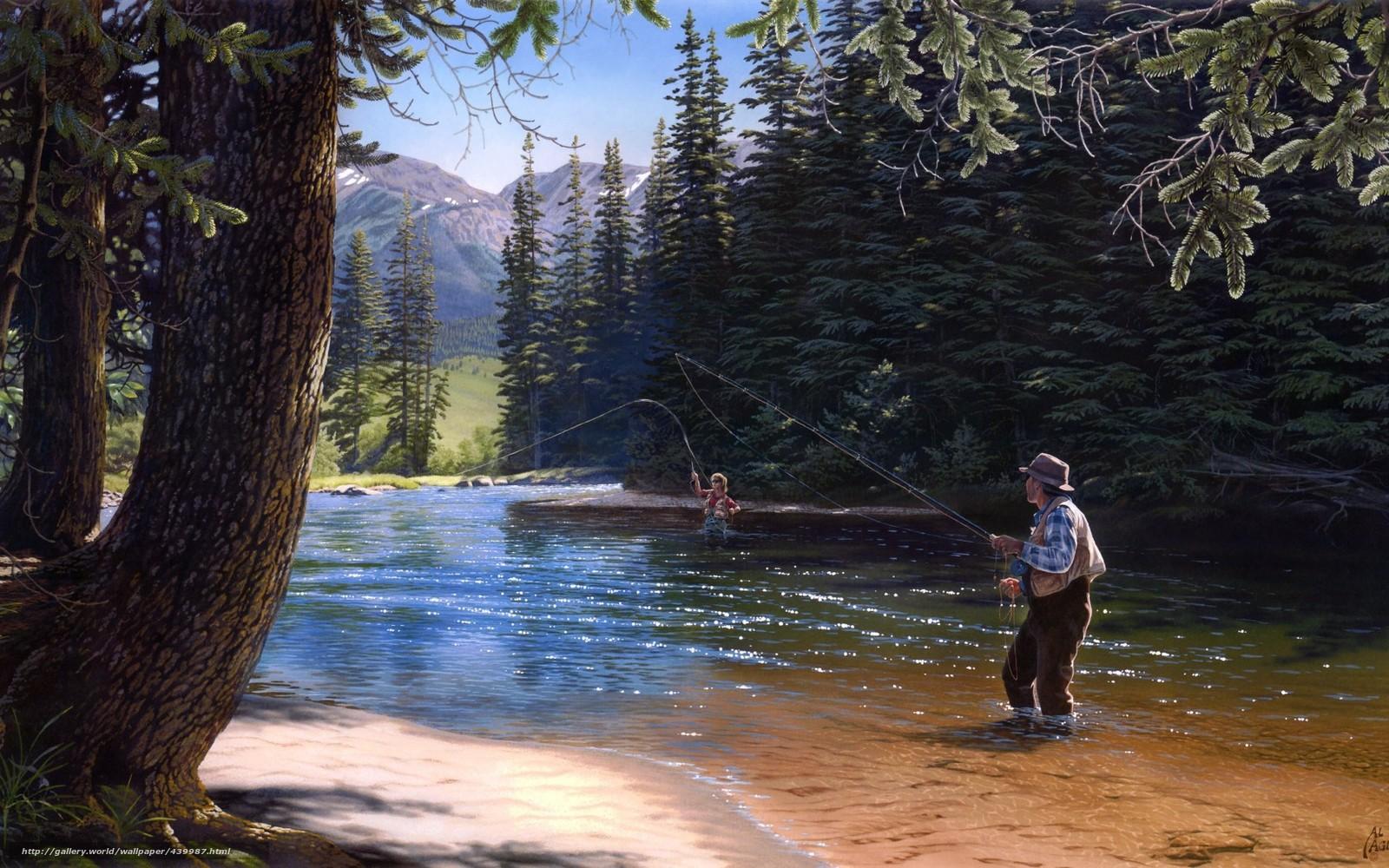 рыбак в лесу