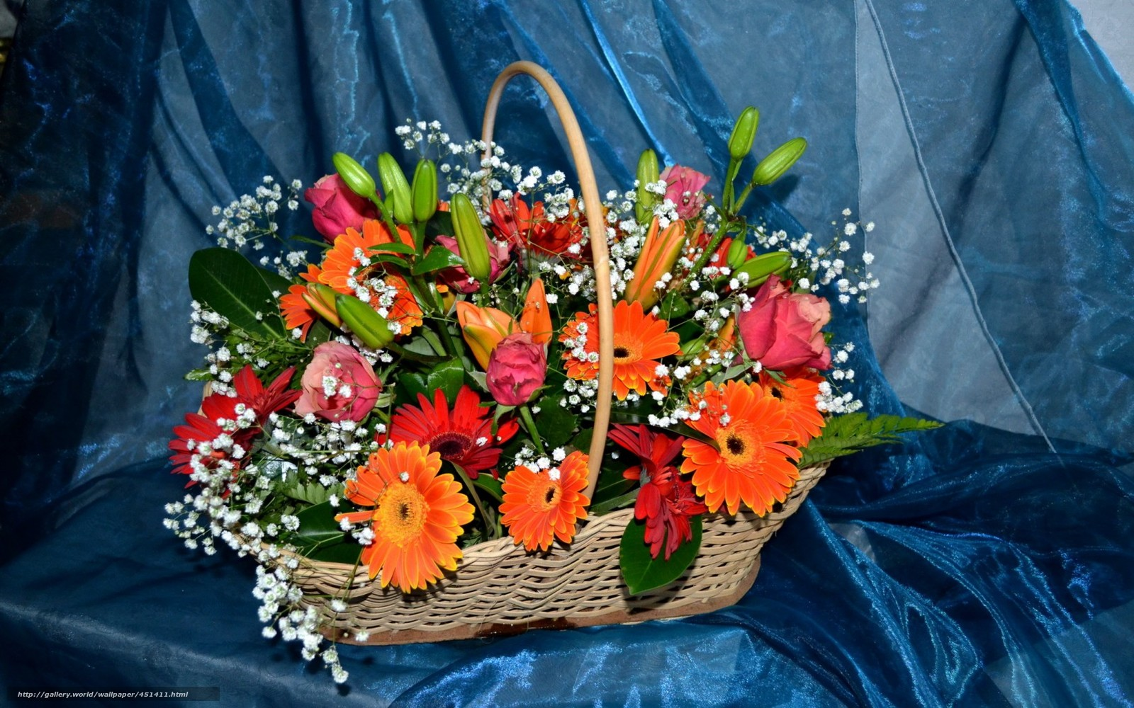 Цветы букеты корзина фото