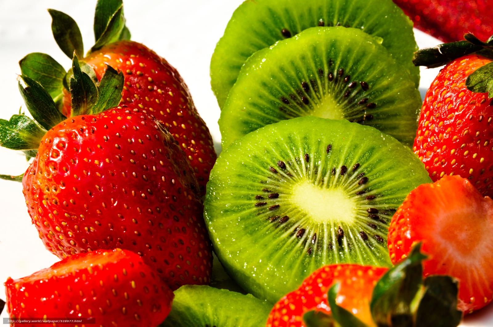 strawberry, kiwi, fruit