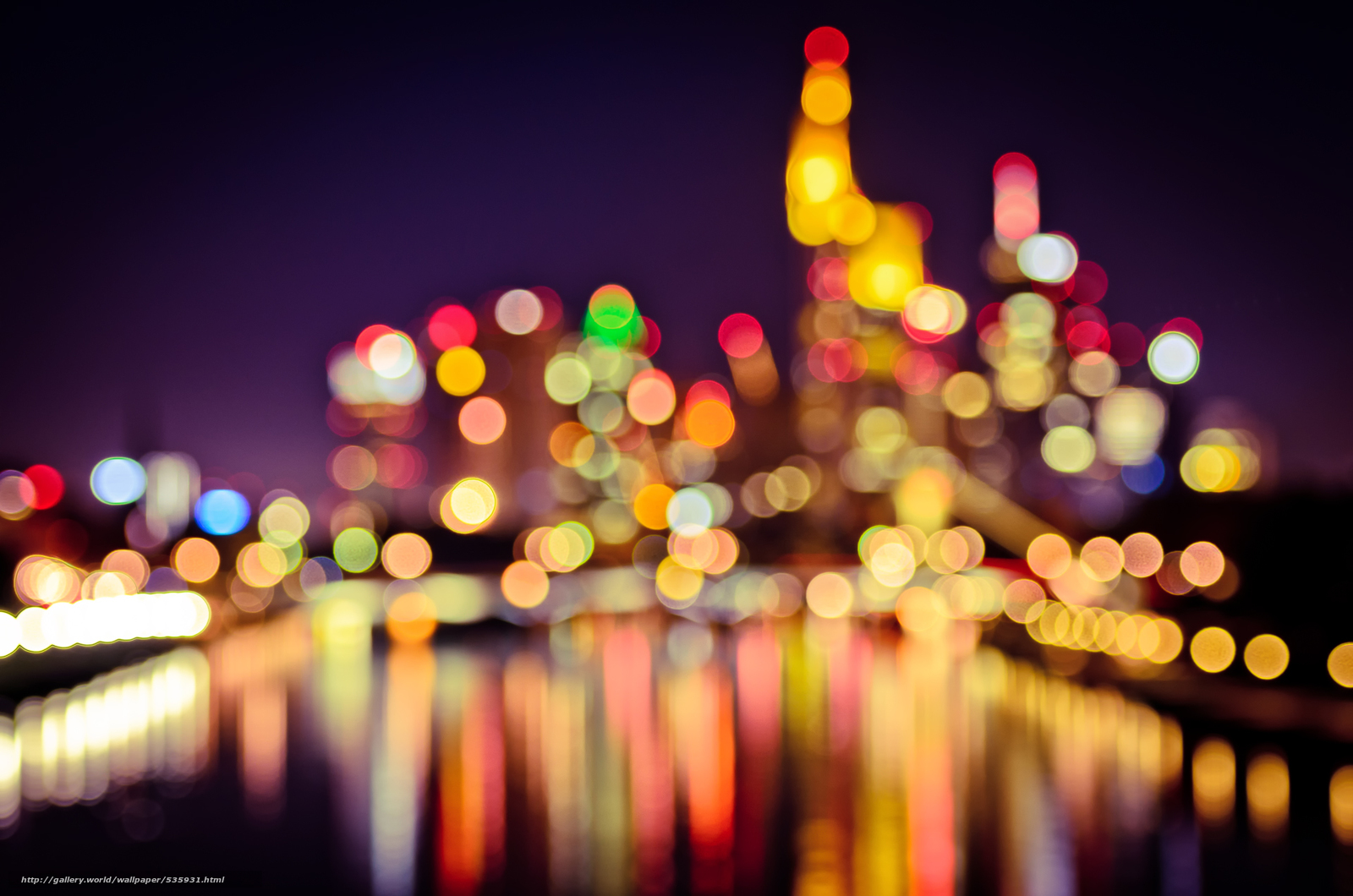 Bokeh city wallpaper