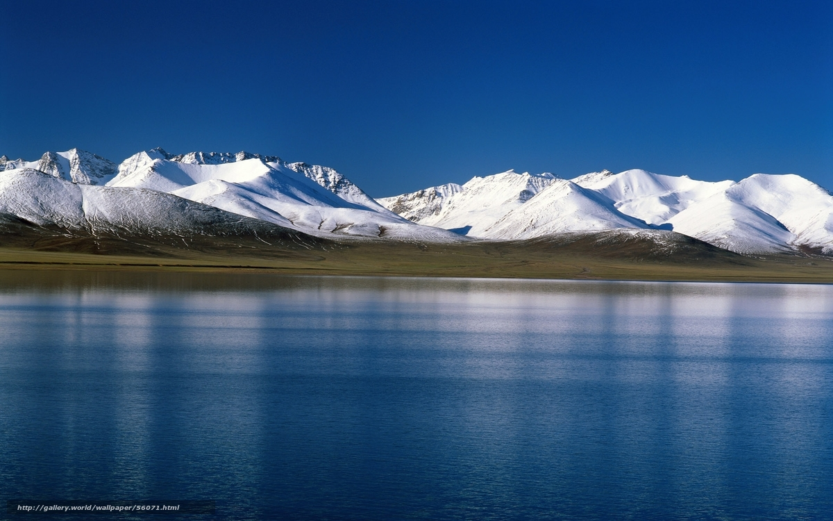 tundra, snow, Mountains