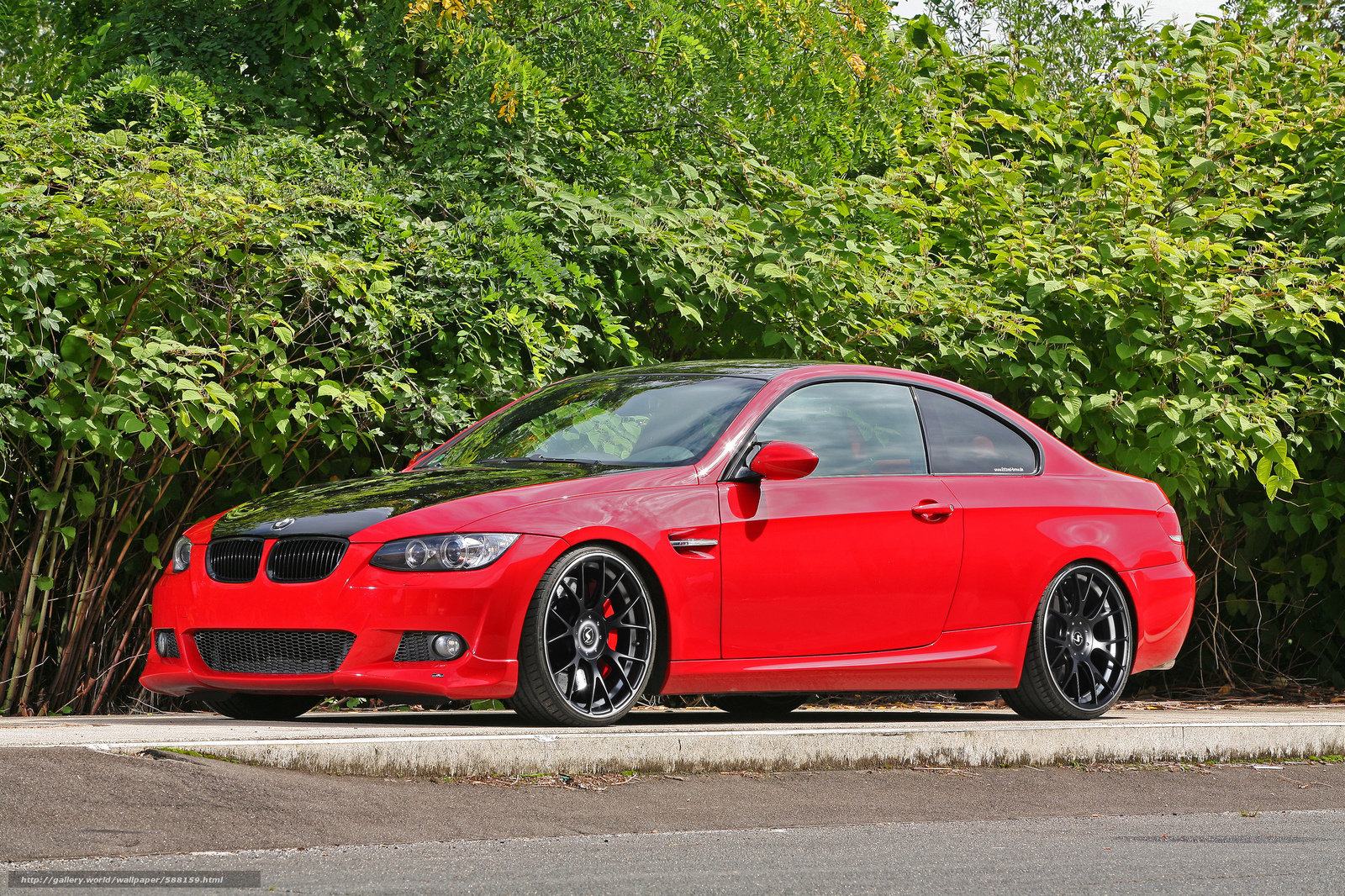 tuning, BMW, BMW, black wheels, red, compartment