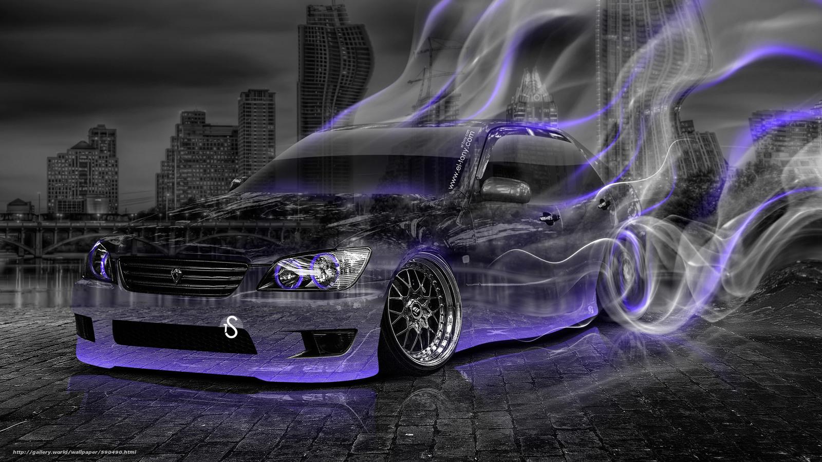 Elegant Tony Kokhan, Toyota, Altezza, JDM, Crystal, Car, Smoke, Drift, Style,  Violet, Neon, Night, El Tony Cars, Photoshop, HD Wallpapers, Tony Cohan,  Photoshop, ...