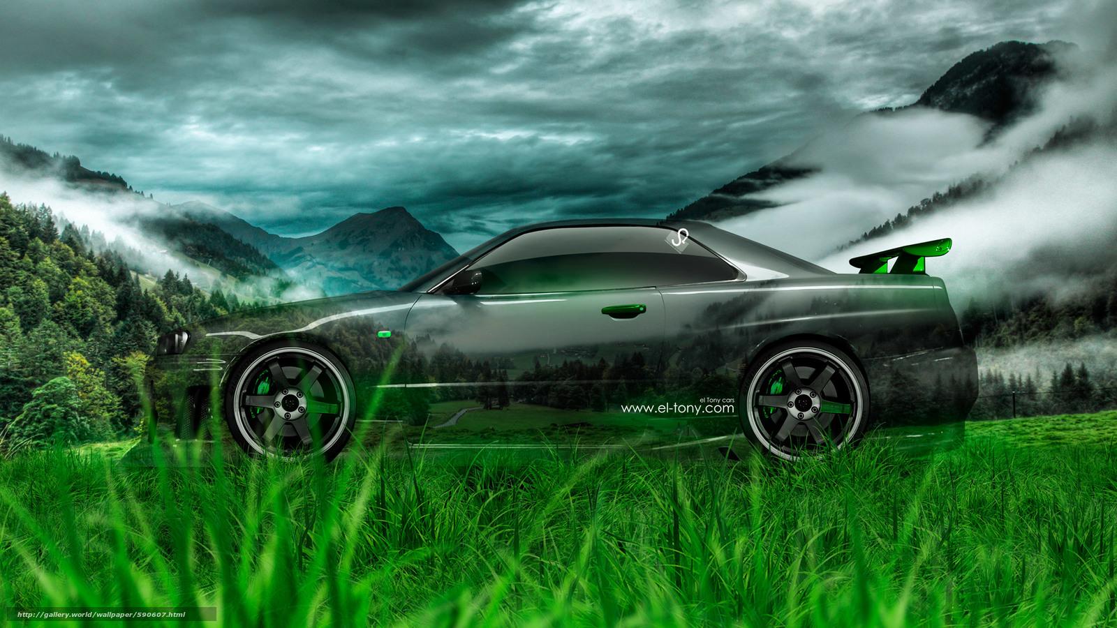 Merveilleux Tony Kokhan, Nissan, Skyline, GTR, R34, Side, Crystal, Car, Nature, Green,  Grass, El Tony Cars, Photoshop, HD Wallpapers, Tony Cohan, Photoshop,  Style, ...