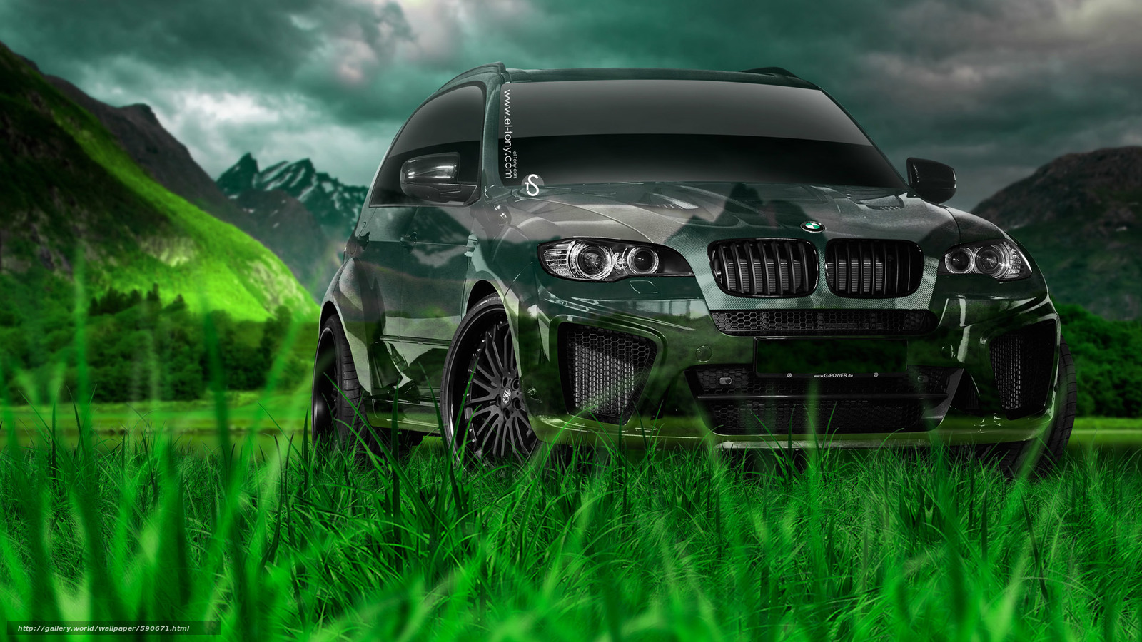 Tony Kokhan, BMW, X5, Crystal, Nature, Green, Grass, El Tony Cars, Jeep,  Crossover, Photoshop, Art, HD Wallpapers, Tony Cohan, Photoshop, BMW, X 5,  X5, ...