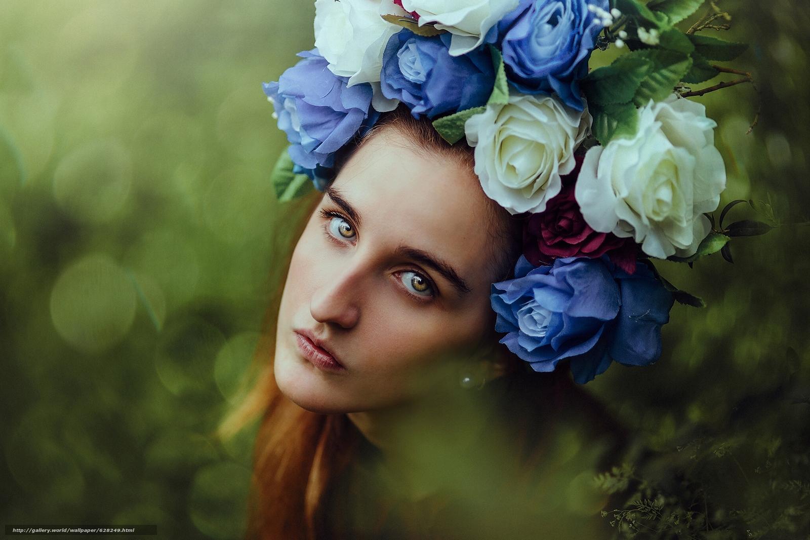 с картинки лицами цветы