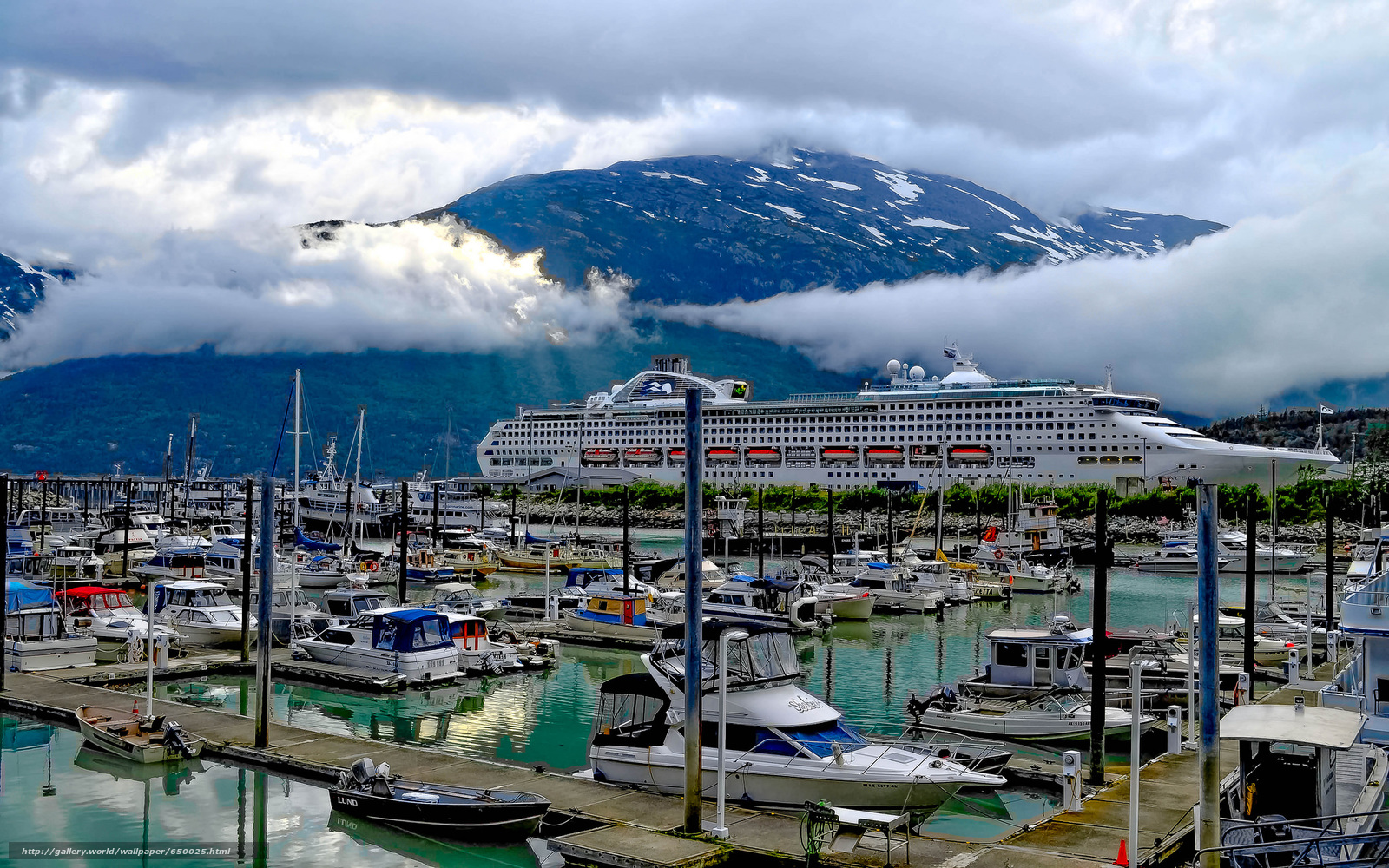 Docked in Skagway, Alaska, port, ship, Yacht, Boat