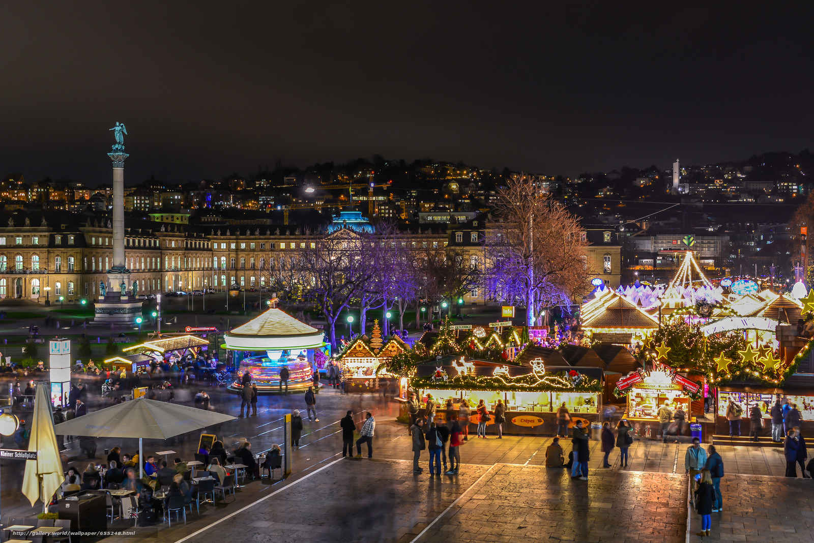 Stuttgart, Christmas Fair, night