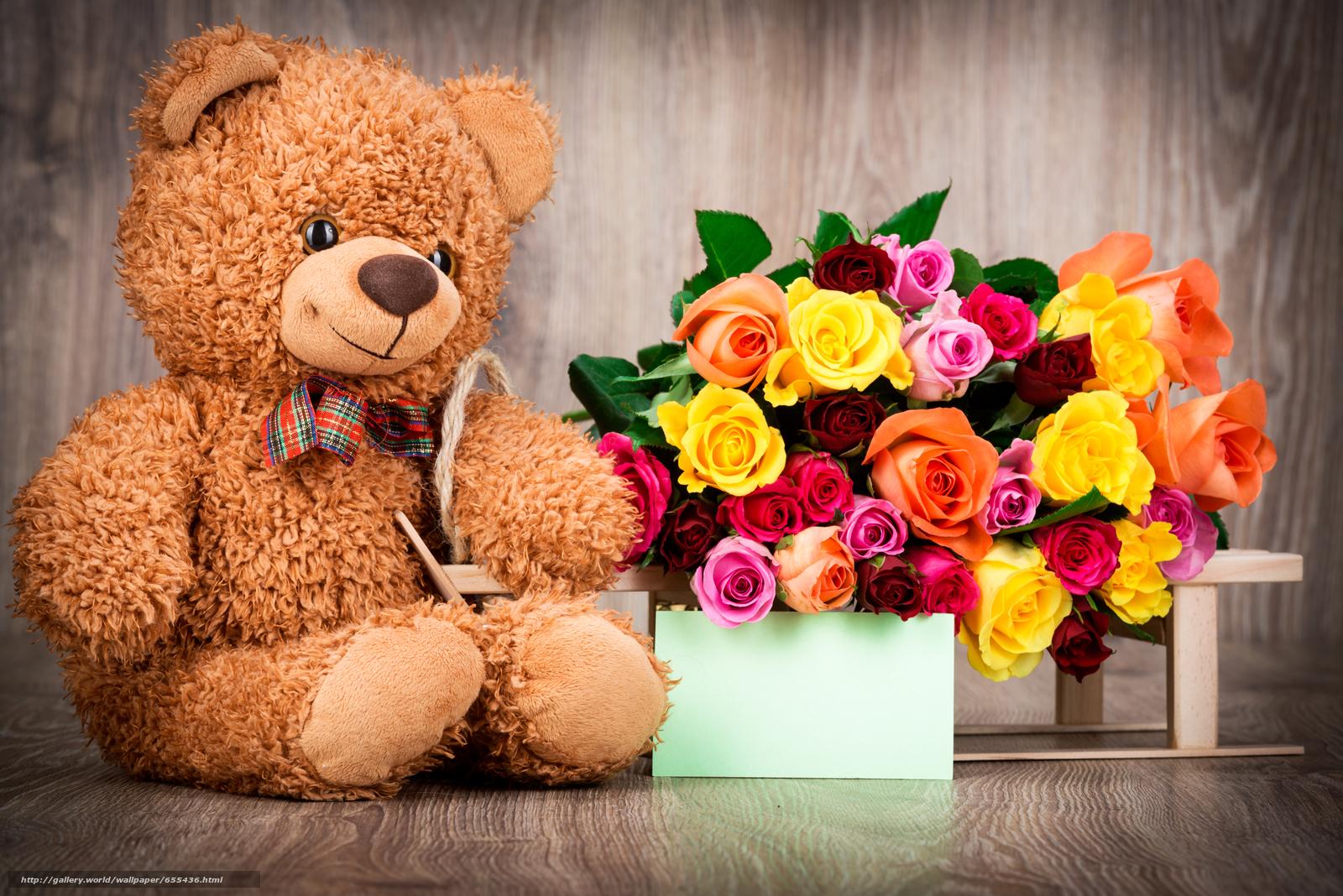Фото мягкая игрушка с цветами