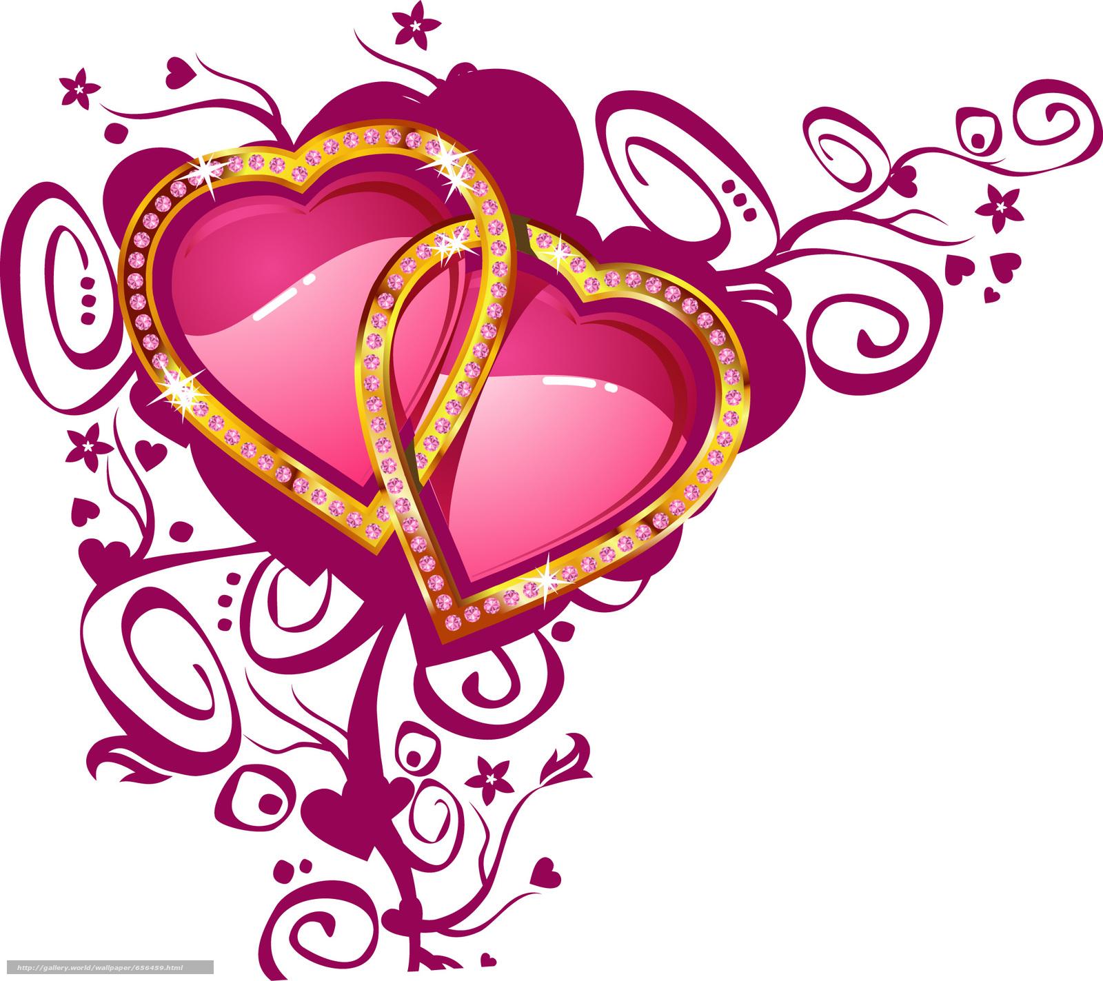 Сердечки для свадебной открытки