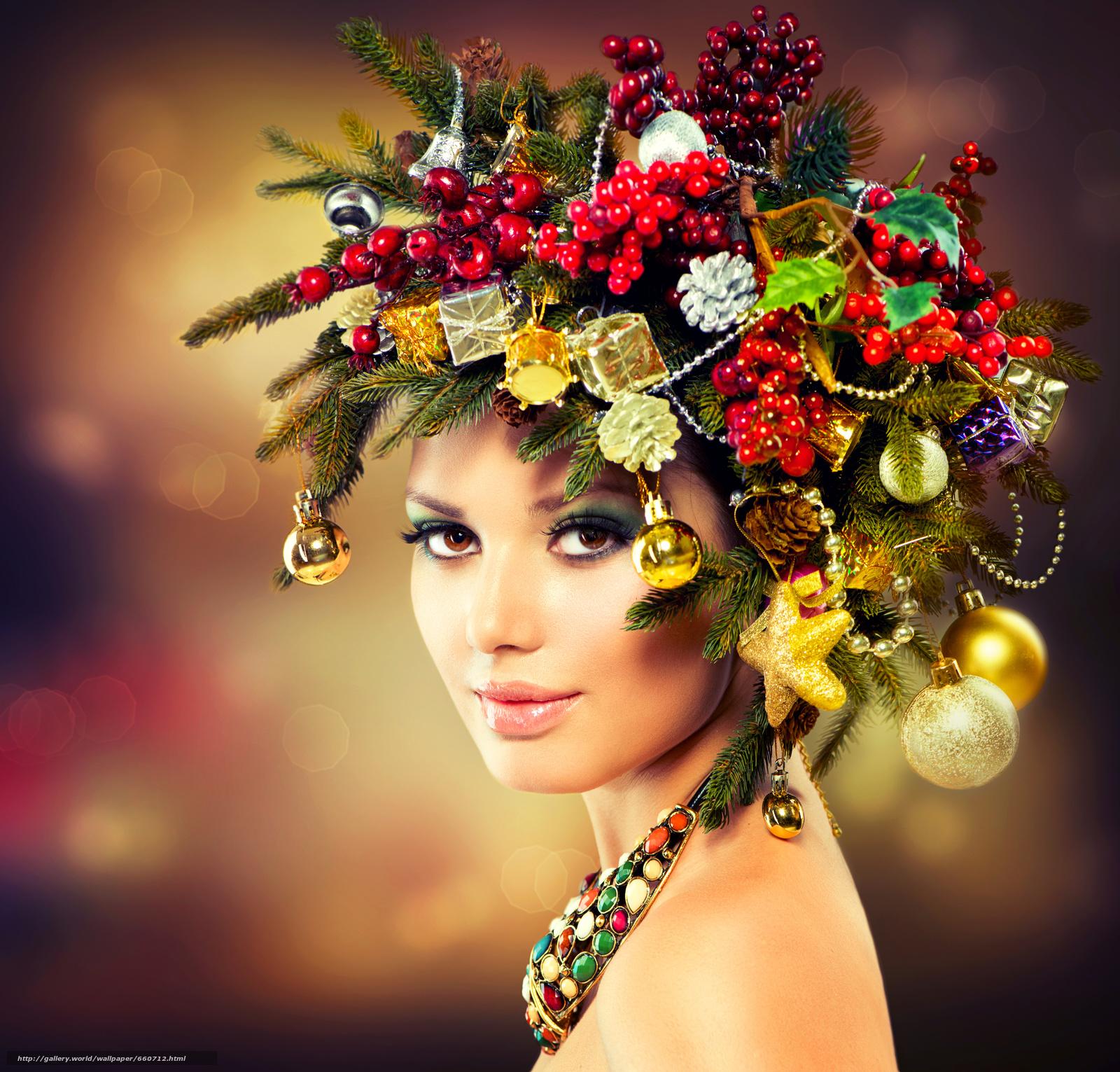 новогодние прически и макияж фото