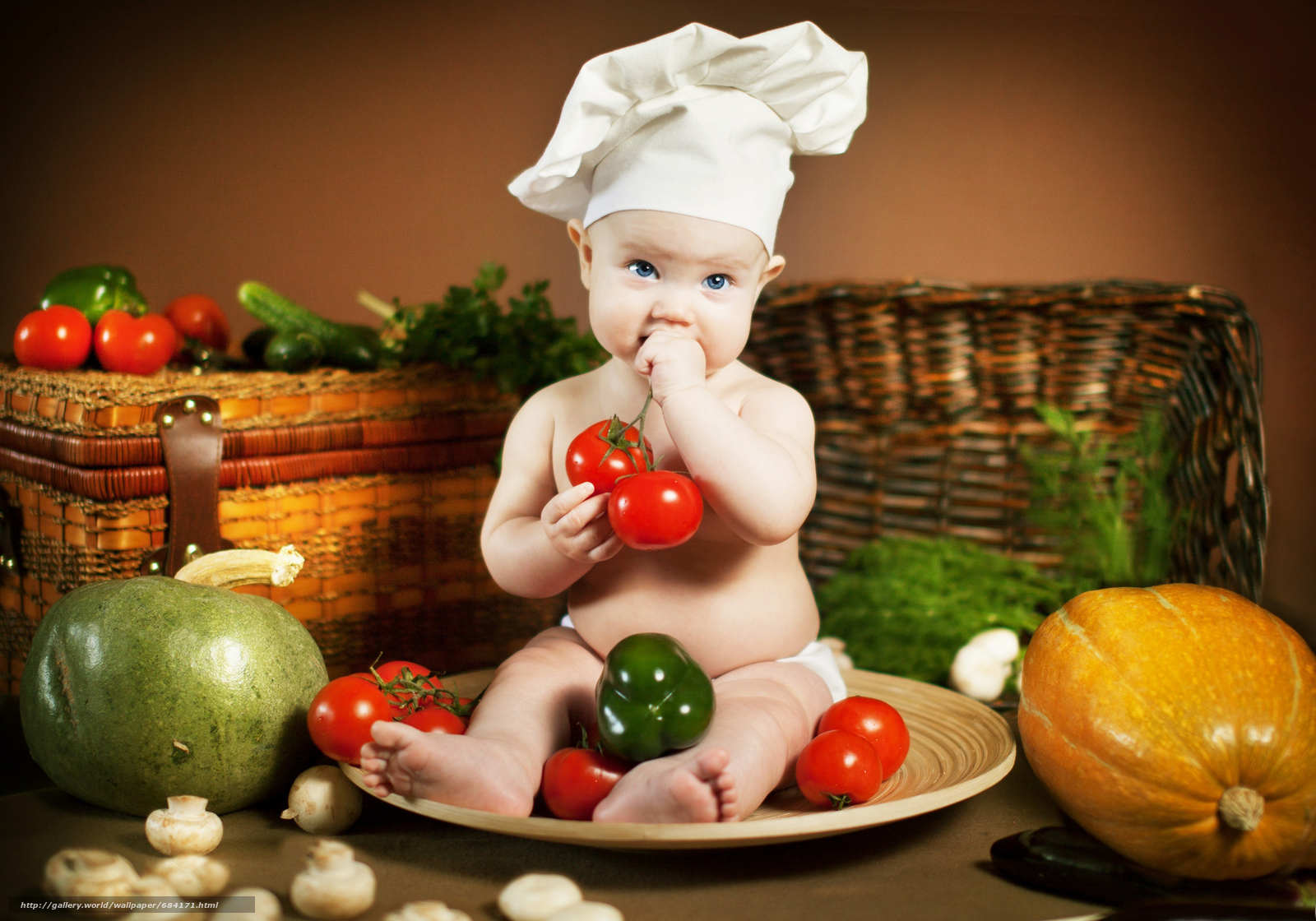 Идеи фото ребенка с овощами