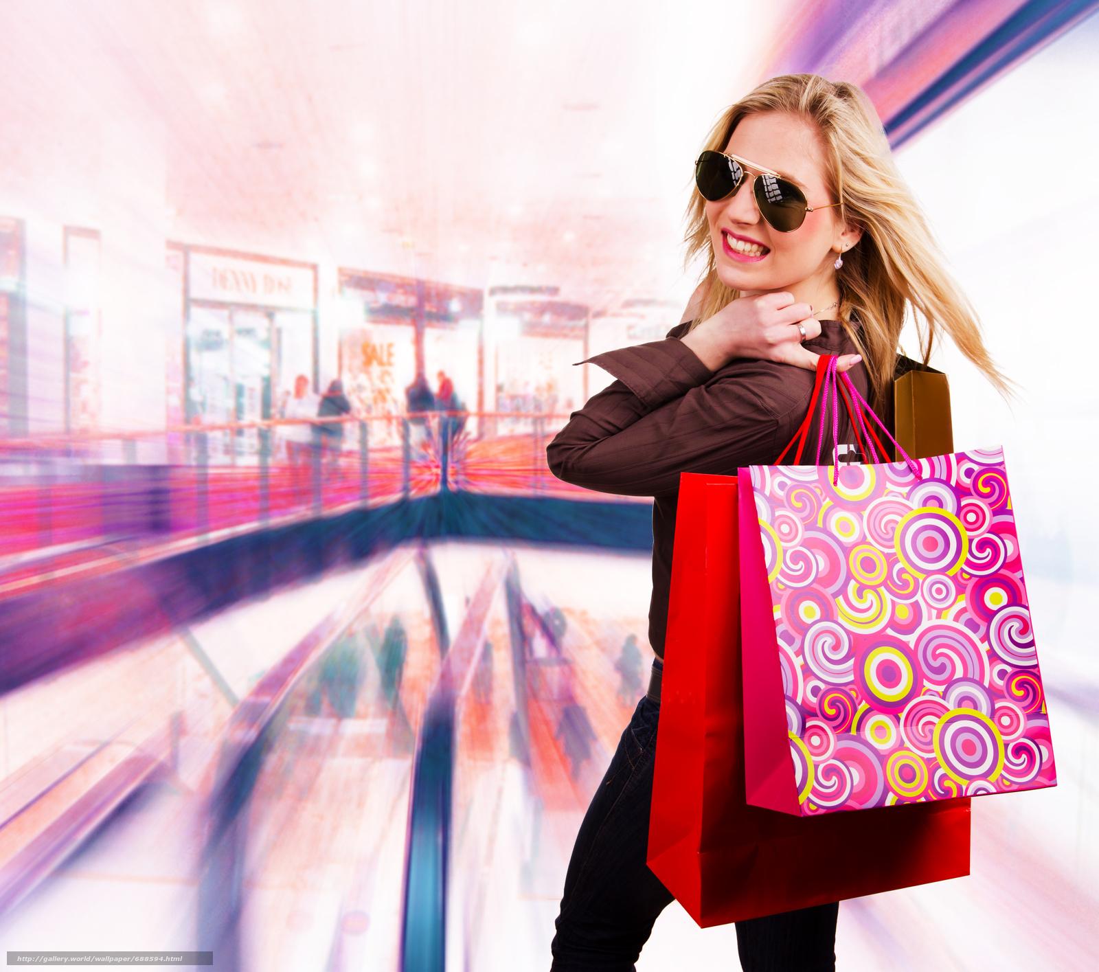 Фото девушек шопинг