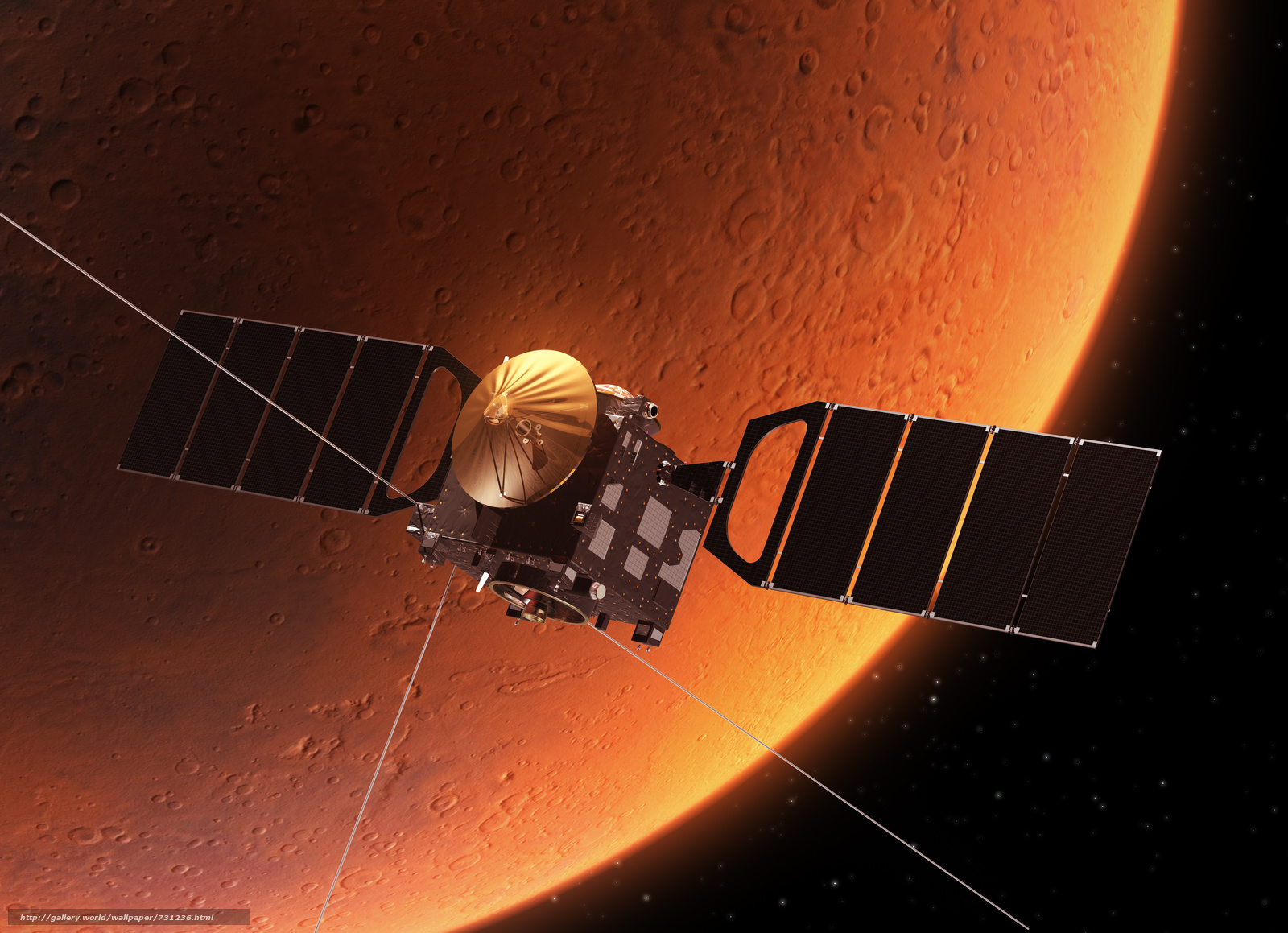Tomorrow two spacecraft will reach Mars after nearly seven months of traveling together through space  and theyll both attempt to pull