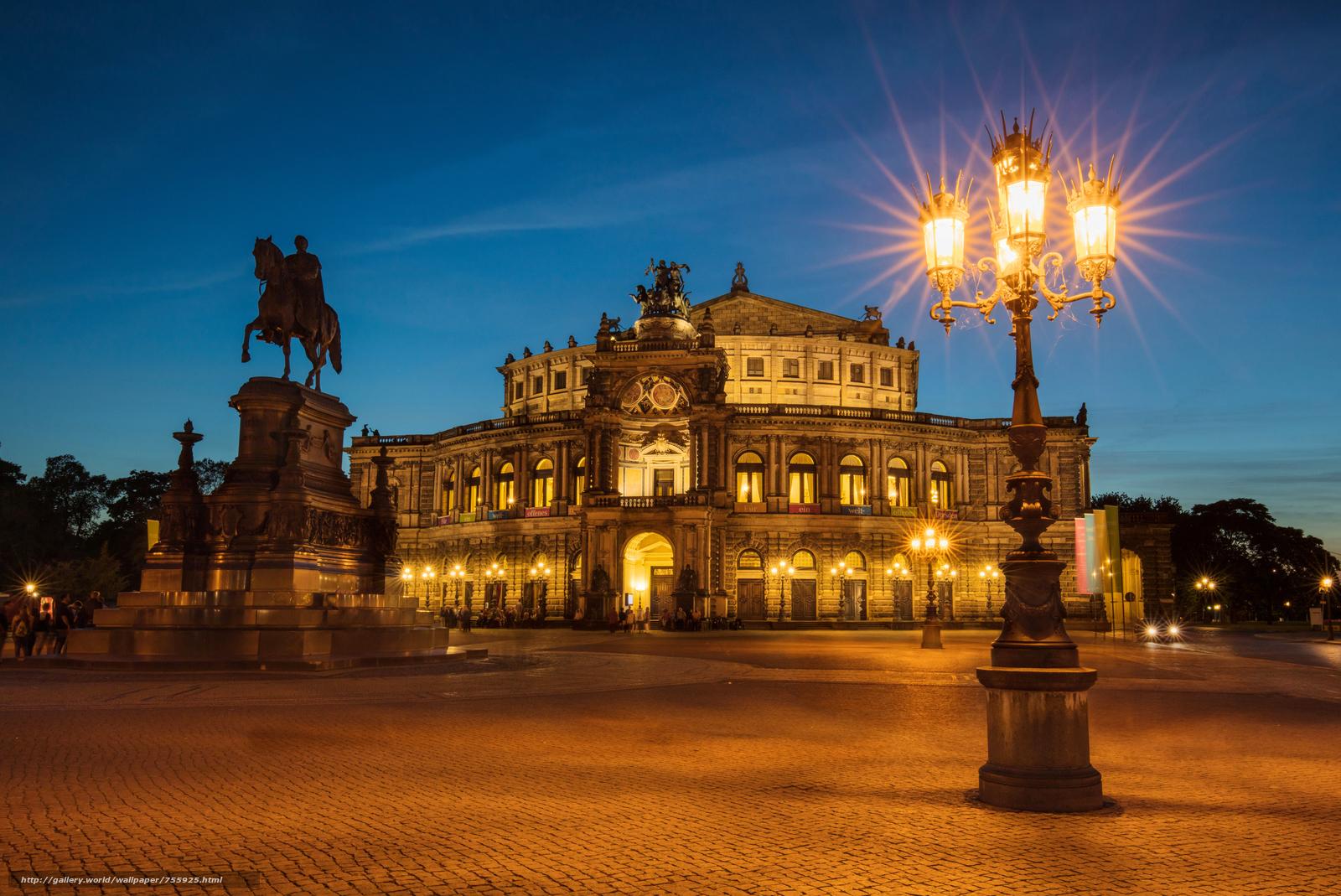 Dresden, Germany, Dresden, Germany, night