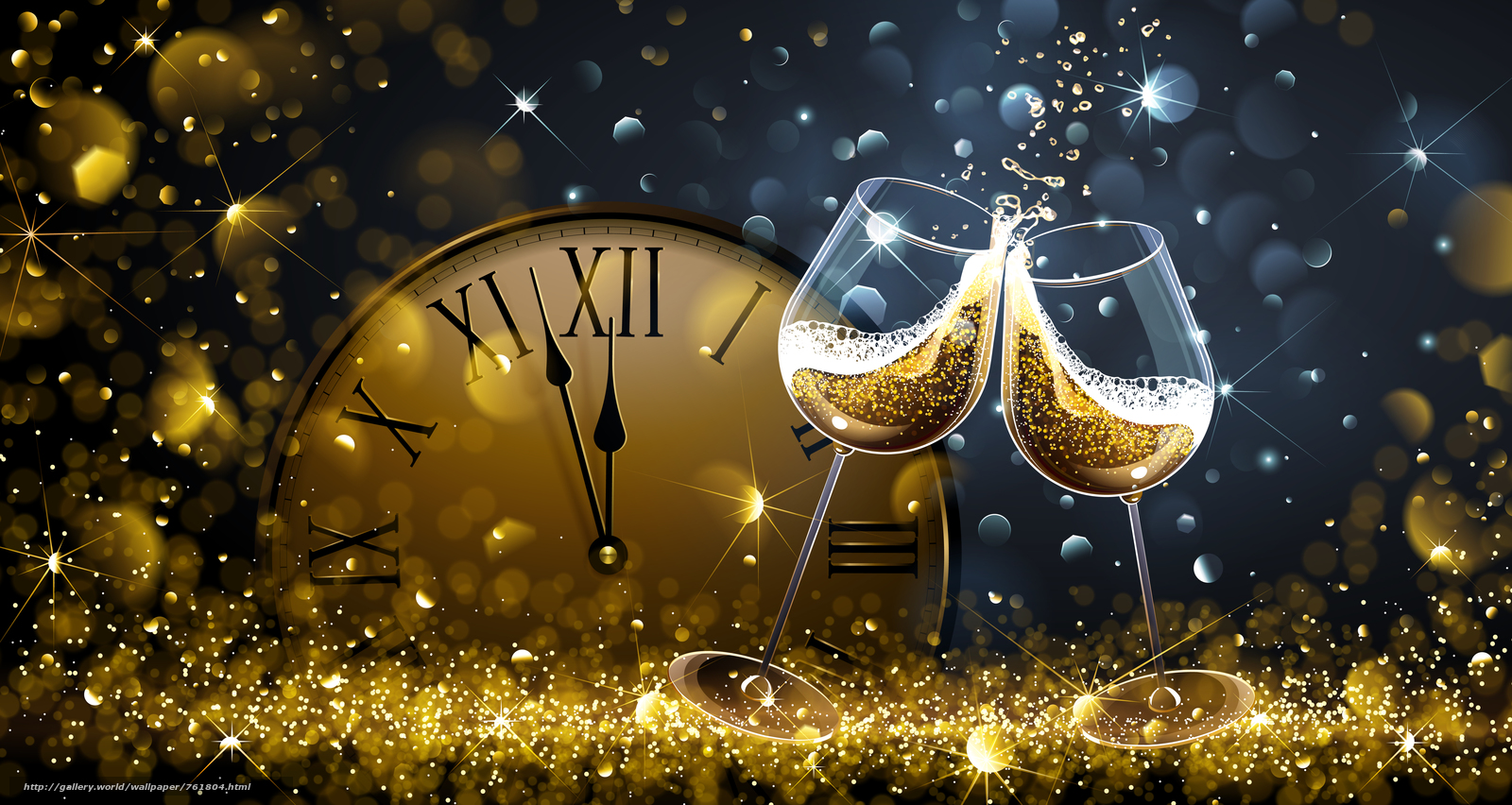 Christmas, background, design, elements, New year wallpapers, new Year, New style, novogodnyaya decoration, toys, ornamentation, clock, champagne