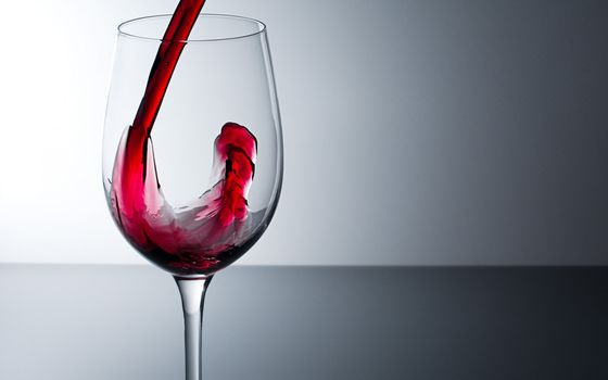 wine, filled with, goblet