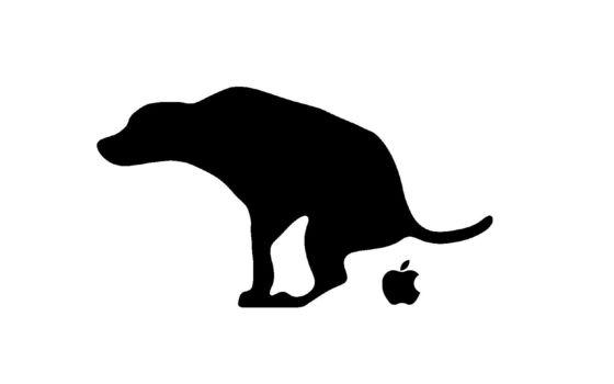 собака, кал, яблоко