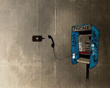 Phone, tube, texture