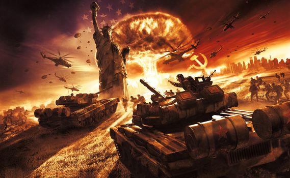 USSR, War, статуя свободы