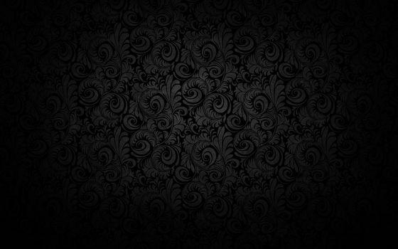 черный фон, узоры, свет