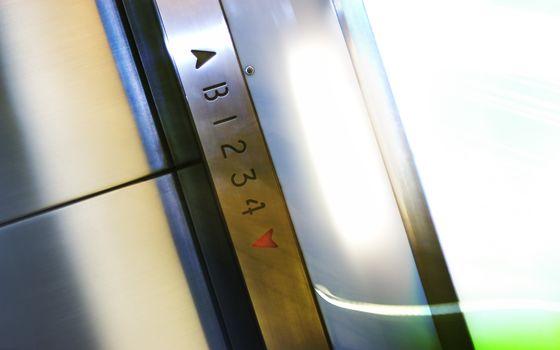 elevador, metal, Pisos