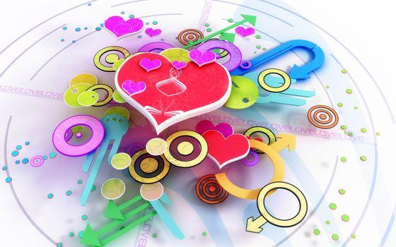 watch, time, arrows, love, heart