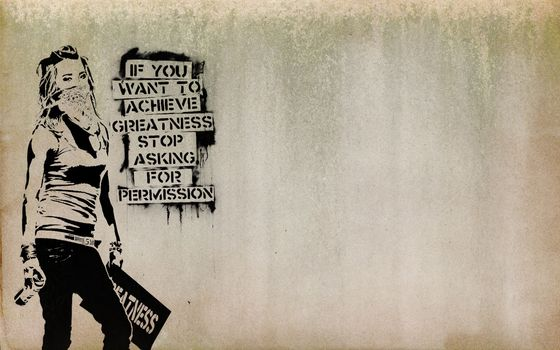 девушка, граффити, мнение, повязка, маска, сопротивление, свобода