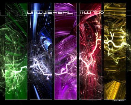 Lightning, element, lightning, element, universal thinking, universal, thought, universe, style, bright