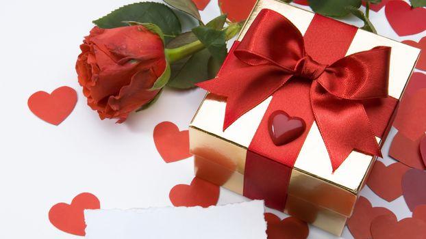 trandafir, floare, Rou, inim