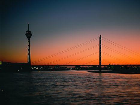 evening, tower, Bridge