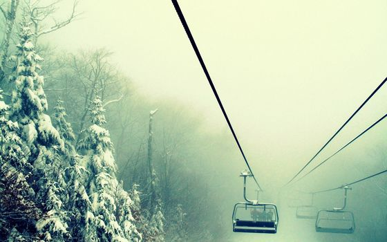 Funicular, lift, in the mountains