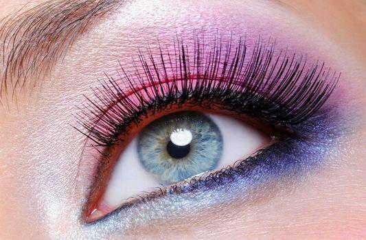 face, Blue Eyes, eyebrow, pink, blue, purple, makeup, ever