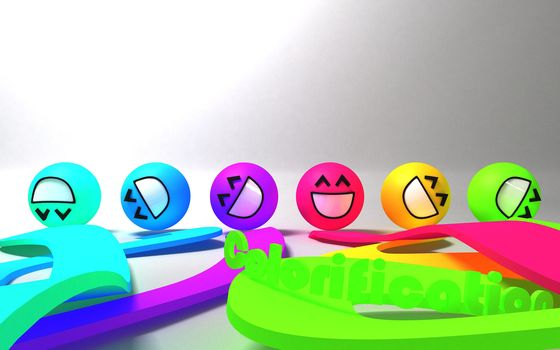 smilies, variegated, background
