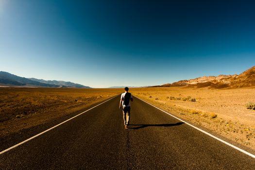 desert, road, guy