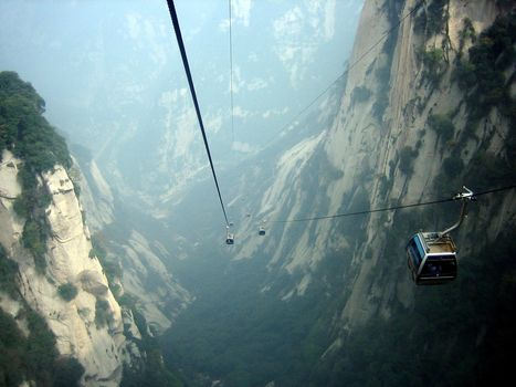 cableway, canyon, height