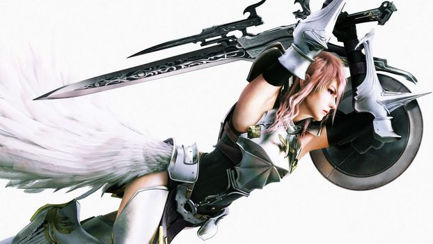 final fantasy xiii, girl, sword