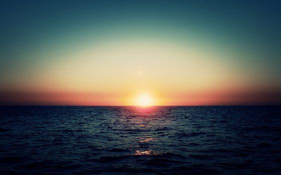 landscape, sea, horizon