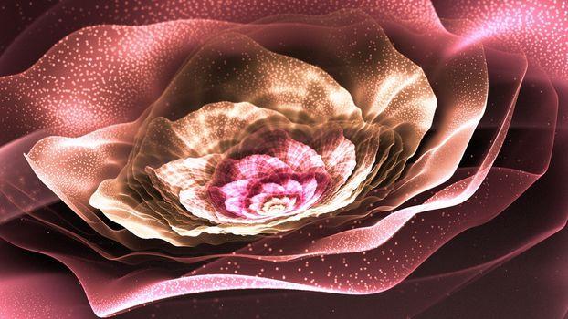 Art, fractal, flower, Petals, pollen, radiance