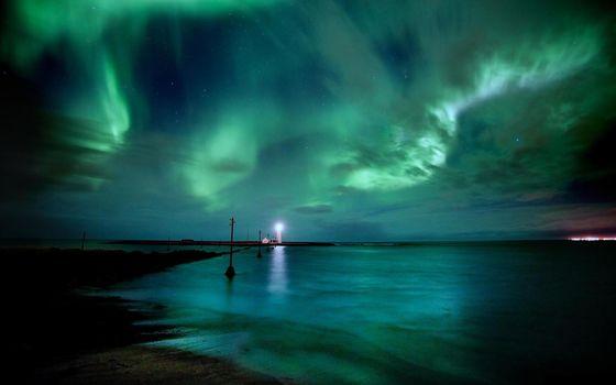 lighthouse, radiance, lights