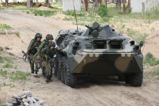 APC, infantry, drill