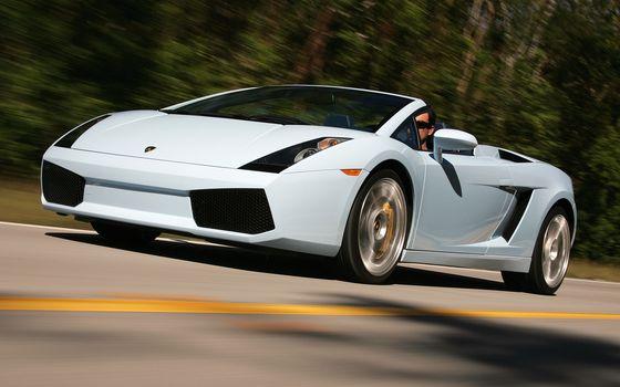 Lamborghini, road, motion, Spider, Cabriolet, Lamborghini