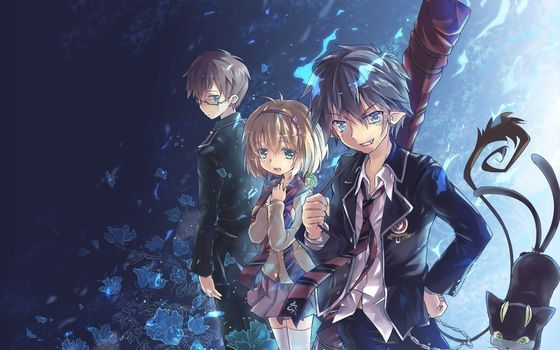 Art, Blue Exorcist, anime, Yukio Okumura, rin, girl, boys, Brothers