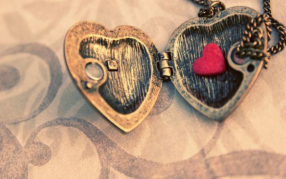 macro, pendant, leaf, heart, suspension, metal, chain
