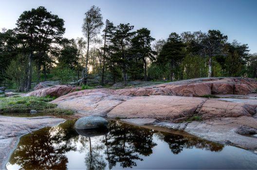 coast, stones, Trees, helsinki