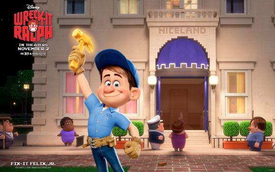 Movies, Cartoon, Ralph, boy, cap, background, wallpaper