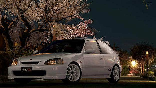 Street, lantern, sett, Honda civic, cars, machinery, Car